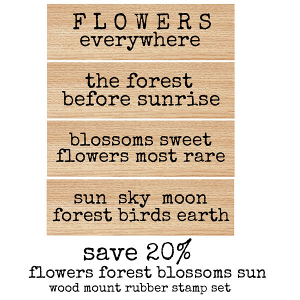 Flowers Everywhere Wood Mount Stamp Set Save 20%