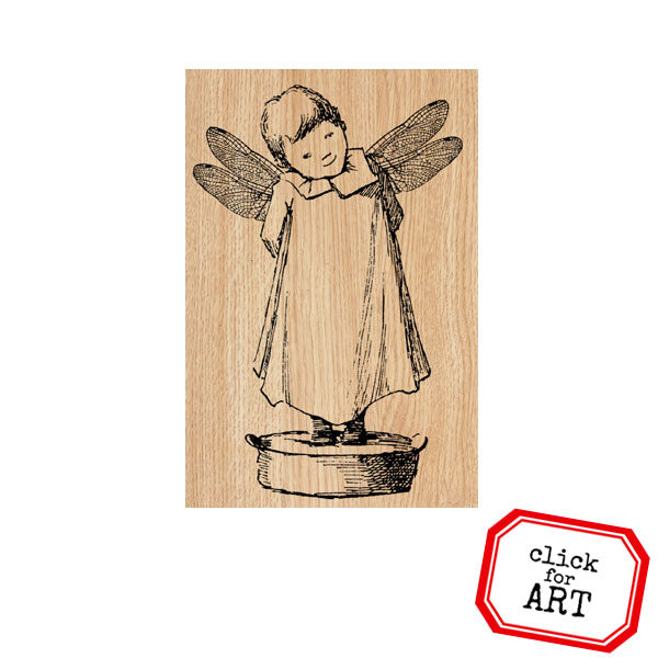 She Sprinkles Wood Mount Rubber Stamp