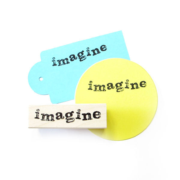 Imagine Wood Mounted Rubber Stamp