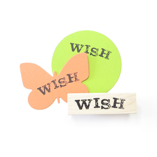 Wish Wood Mounted Rubber Stamp