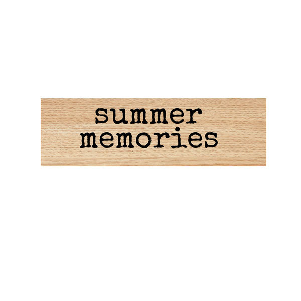 Summer Memories Wood Mount Rubber Stamp Save 25%