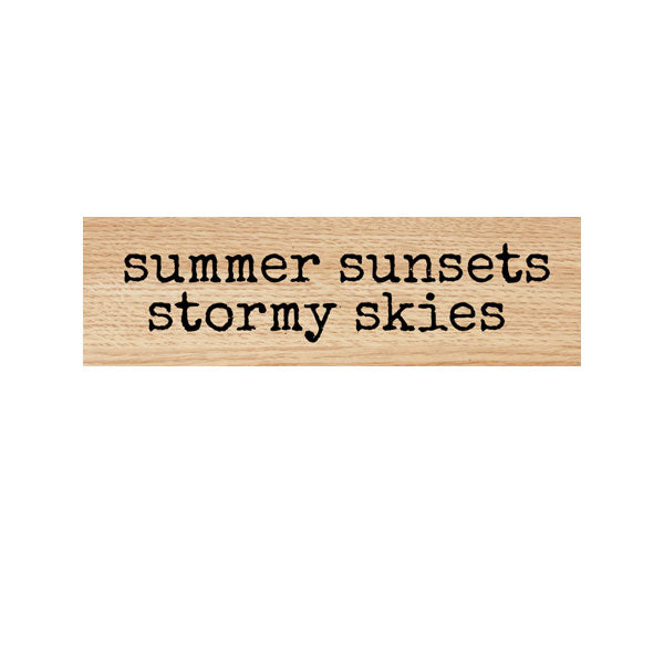 Summer Sunsets Stormy Skies Wood Mount Rubber Stamp