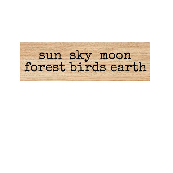 Sun Sky Moon Wood Mount Rubber Stamp