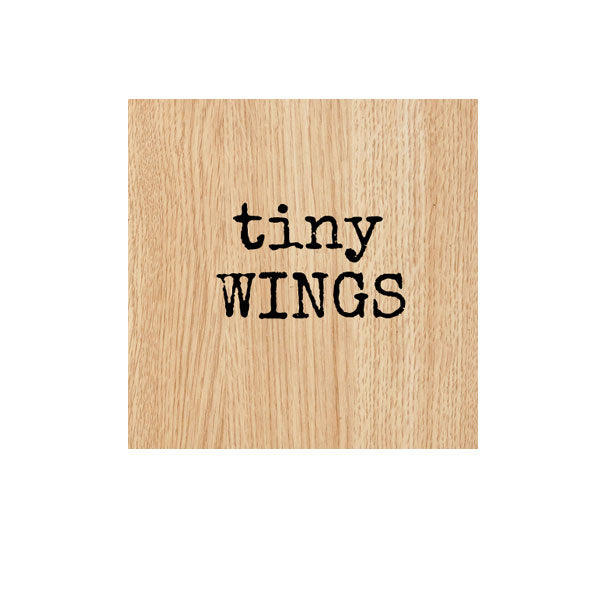 Tiny Wings Wood Mounted Rubber Stamp