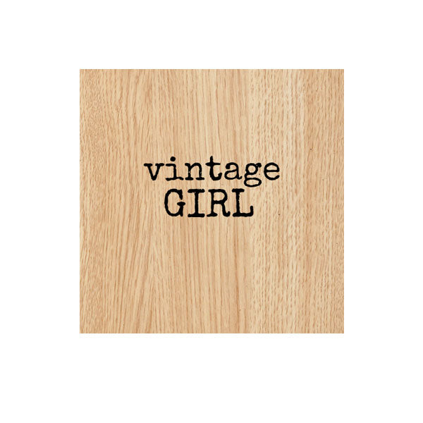 Vintage Girl Wood Mount Rubber Stamp