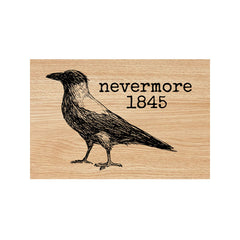 Nevermore 1845 Wood Mount Rubber Stamp Save 30%