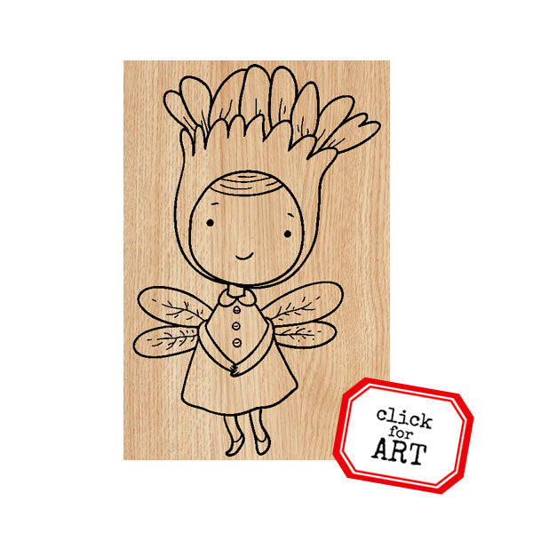 Penelope WimZe Wood Mounted Rubber Stamp
