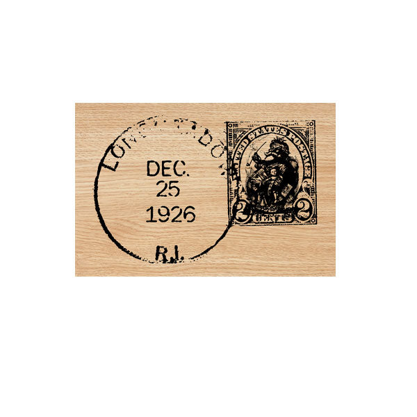 Dec. 25 1926 Postmark Wood Mounted Rubber Stamp