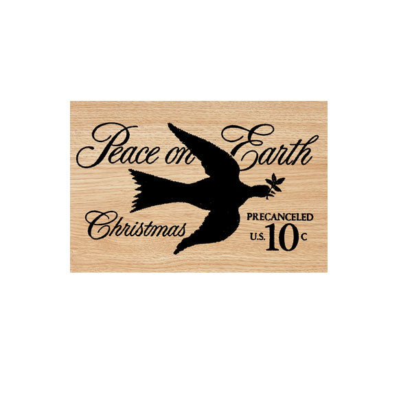 Peace on Earth Postmark Wood Mounted Rubber Stamp