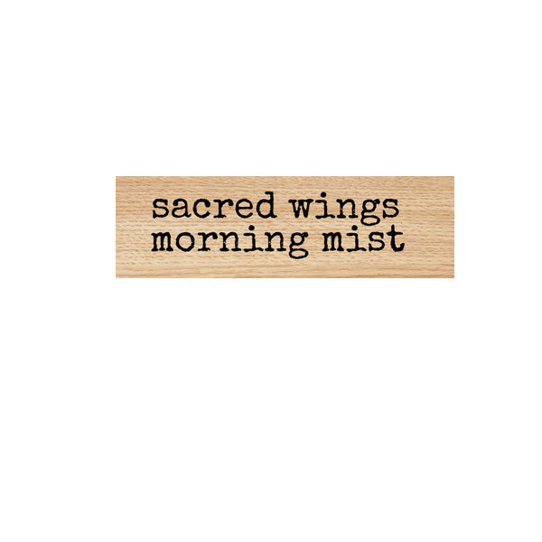 Sacred Wings Morning Mist Wood Mounted Rubber Stamp