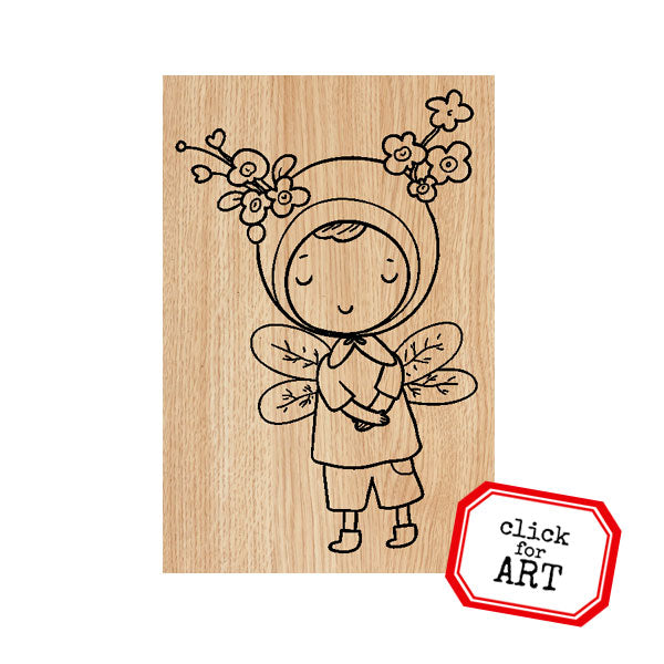 Sally Ann WimZe Wood Mounted Rubber Stamp