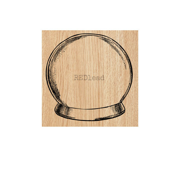 Snow Globe Wood Mounted Rubber Stamp Save 30%