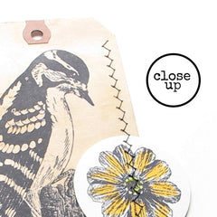 woodpecker rubber stamp