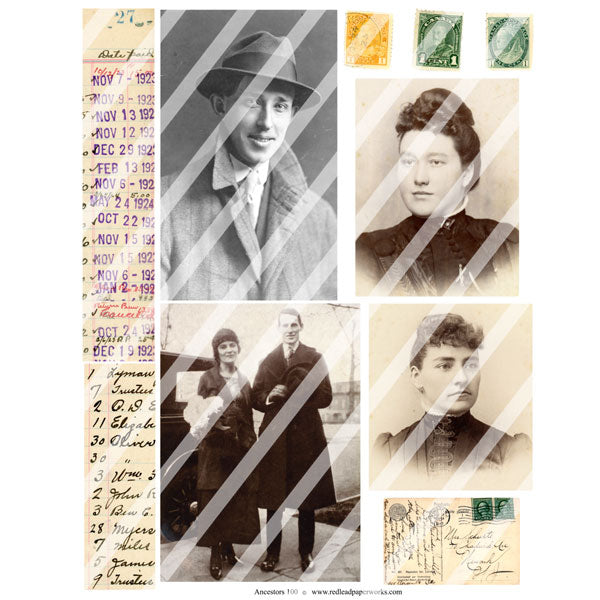 Ancestors 100 Collage Sheet