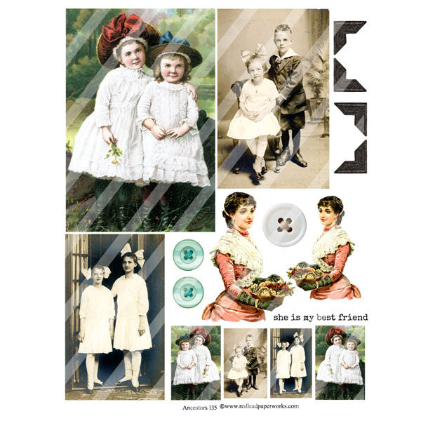 Ancestors 135 Collage Sheet
