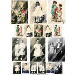 old photos collage sheets