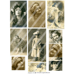 old photo paper collage sheets