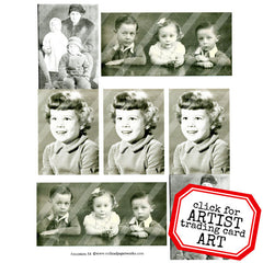old photos collage paper