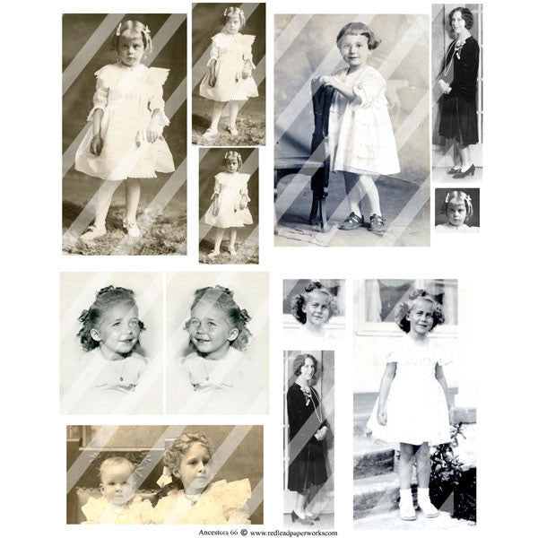 vintage photo collage sheets