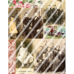 vintage photos paper collage sheets
