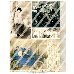 old photos paper collage sheets