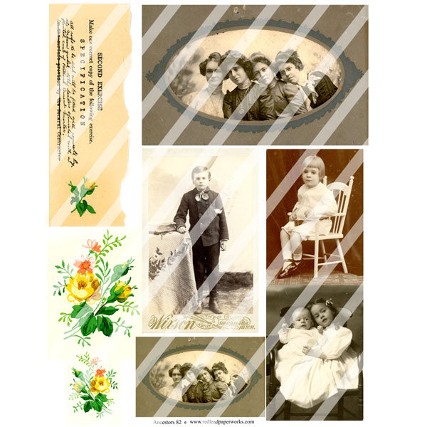 vintage collage sheets