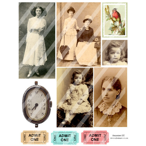 Ancestors Collage Sheet 132
