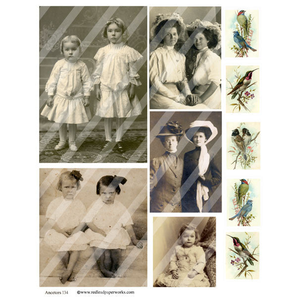 Ancestors Collage Sheet 134