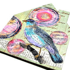 mixed media bird art