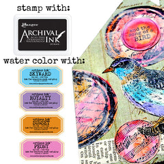 How to stamp with water colors