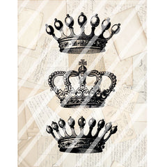 Antique Style Paper Print Crowns
