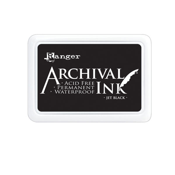 Ranger Archival Jet Black Ink Pad - Save 20%