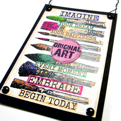 Art Brushes Rubber Stamps