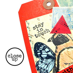 close up mixed media art tags