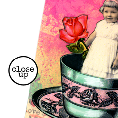 Rose Sentiment Rubber Stamp - The Rose Speaks of Love - She was Fair as is the Rose in May