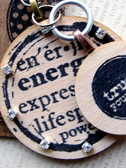 wood rubber stamping with mixed media rubber stamps