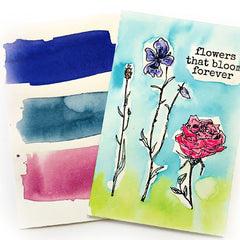 Flowers That Bloom Forever Rubber Stamp