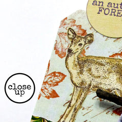 close up of deer stamp