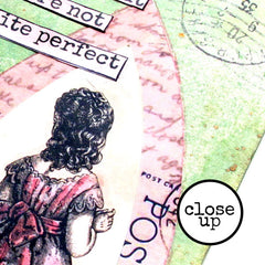 close up of best friend rubber stamps