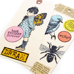 Dear Art Girl Rubber Stamp