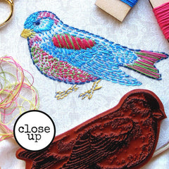 Fly Home Little Bird Rubber Stamp