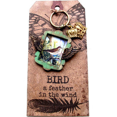 Butterfly vintage style tag