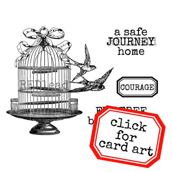 Brave Little Birds Rubber Stamp