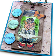 Mason Jar Rubber Stamped Card