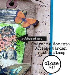 Close up of Mason Jar Rubber Stamped Card