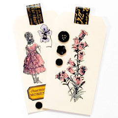 Charming Moments Cottage Flowers Rubber Stamp