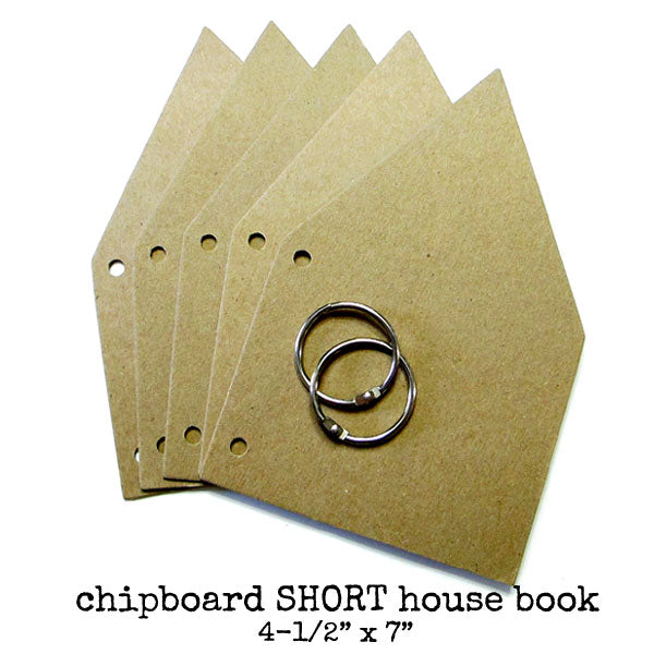 Chipboard Short House Book