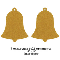 2 Chipboard Bell Ornaments
