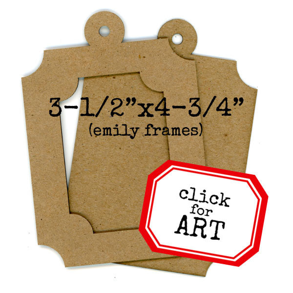 Chipboard Frame Set - Emily