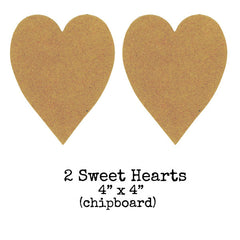 Chipboard Sweet Hearts  - 2